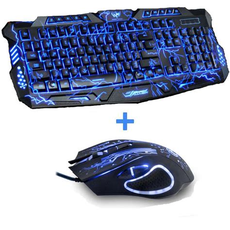 Mousepad Gaming Pro Gamer Da 400mmx450mmx4mm new purple blue led backlight usb wired laptop pc pro gaming keyboard mouse combo for lol