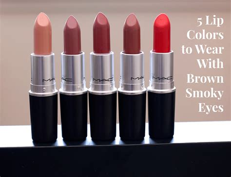 Lipstik Brown 5 lip colors to wear with brown smoky makeup and