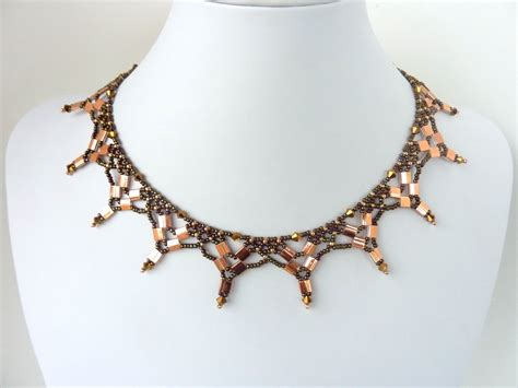 net necklace pattern free beading pattern for necklace tila netting
