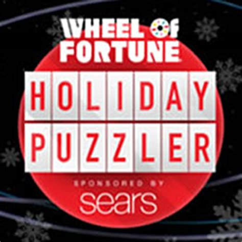 Sears Sweepstakes 2016 - sears wheel of fortune holiday puzzler sweepstakes daily answers