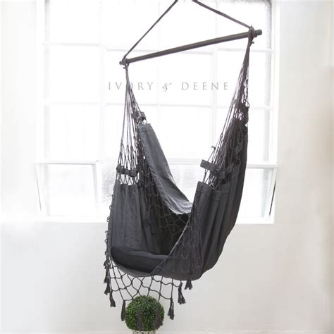 Hamac Chair by Bohemian Outdoor Hanging Hammock Chair In Charcoal Buy
