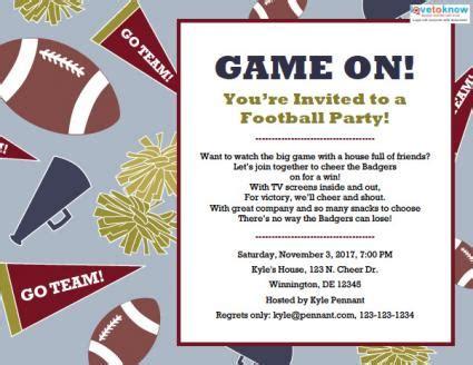 Football Party Invitations Lovetoknow Football Invitation Template