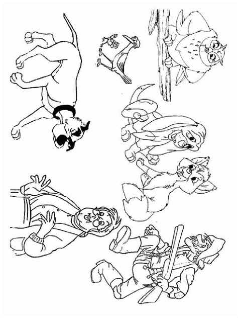 coloring pages for fox and the hound fox and the hound coloring pages free printable fox and