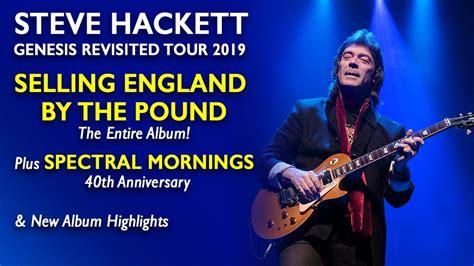 Genesis Tour 2019 genesis news it steve hackett genesis revisited