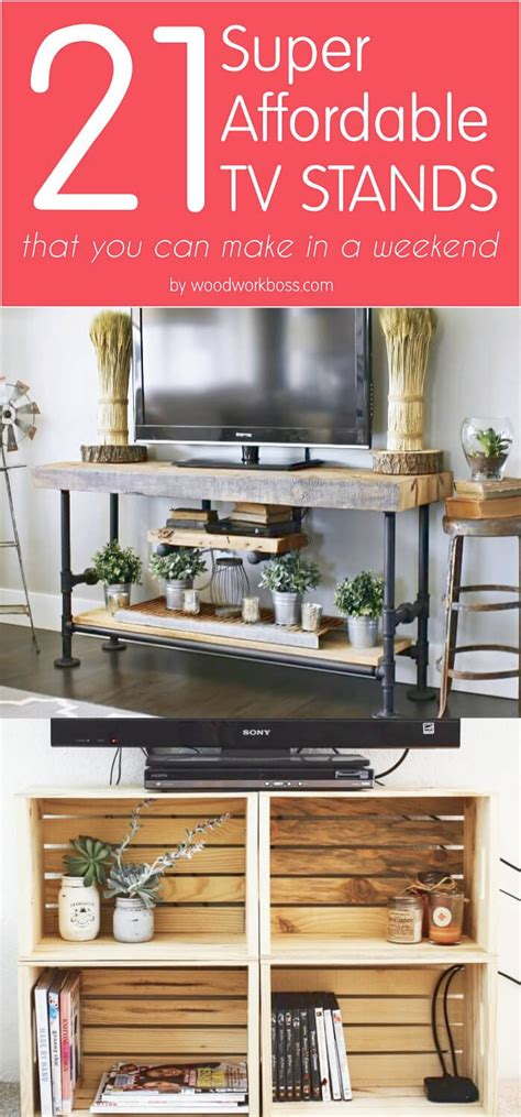 affordable diy tv stand ideas   build   weekend