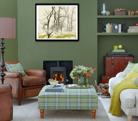 decorating a green living room