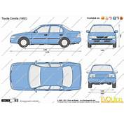 The Blueprintscom  Vector Drawing Toyota Corolla