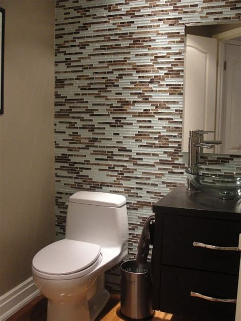 Powder Room Tile Ideas | powder room contemporary powder room toronto by