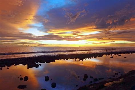 photo landscape sunset natural clouds
