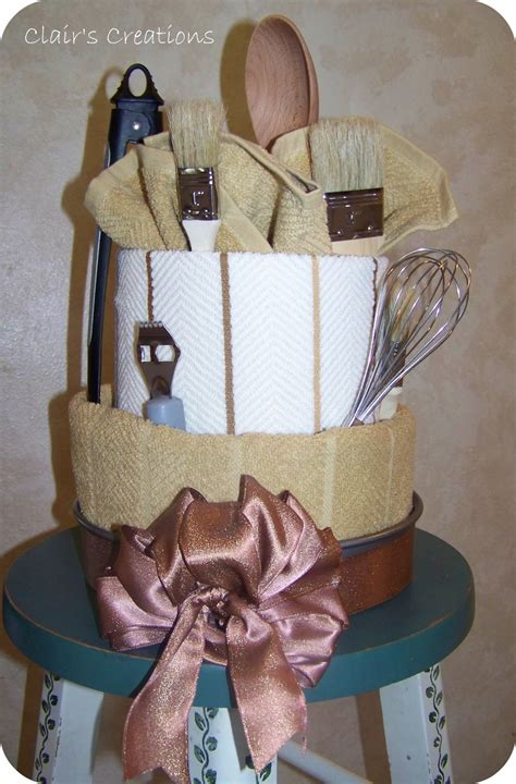 clair s creations tea towel wedding gift - How To Make A Tea Towel Cake For Bridal Shower