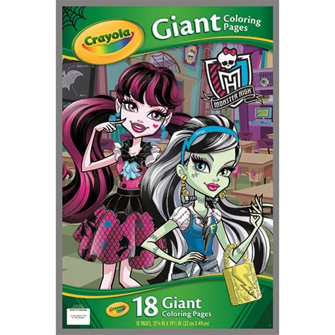 amazon com crayola monster high giant coloring pages