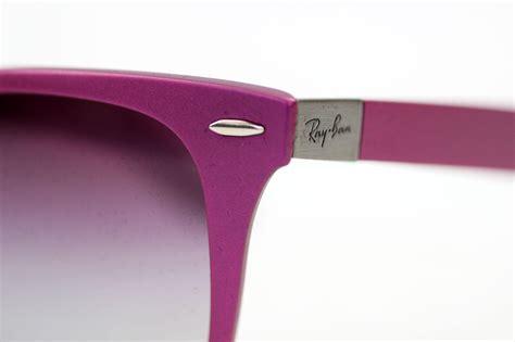 Rayban Wayfarer Liteforce Violet ban tech retro coloured liteforce wayfarers in violet