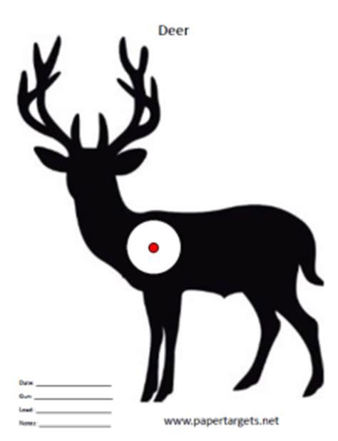 printable deer shooting targets animal shooting targets paper targets net