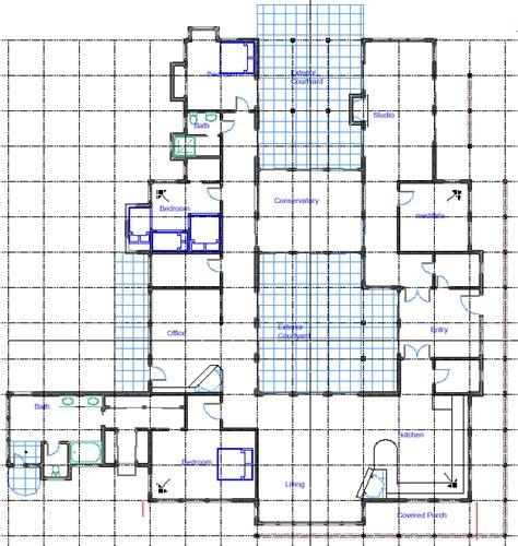 House Plan Rectangle With Courtyard Vastu Seminar Drawing Amp Dimensioning The Mandala
