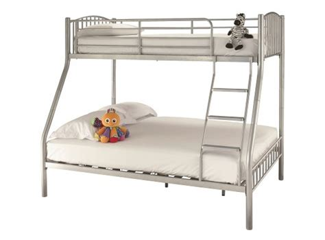 Metal Sleepers by Serene Oslo Three Sleeper Silver Metal Bunk Bed By Serene