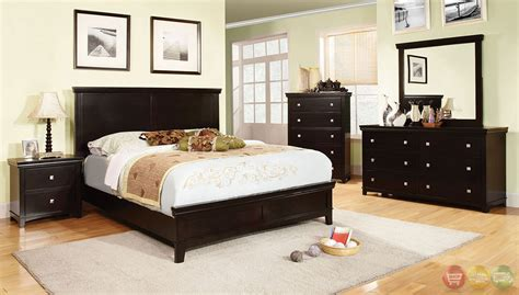 Transitional Bedroom Sets by Spruce Transitional Espresso Bedroom Set With Brushed