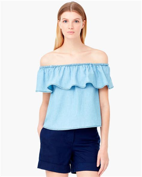 Soft Denim Top Mango the shoulder tops 10 stylish high finds