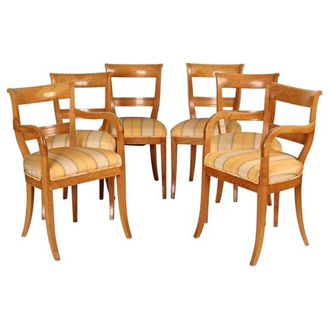 Dining Room Chair Set Of 6 by Set Of Six Directoire Style Dining Room Chairs For Sale At 1stdibs