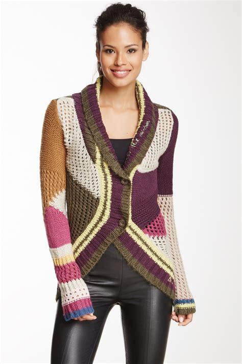 multi color cardigan multi color knit cardigan