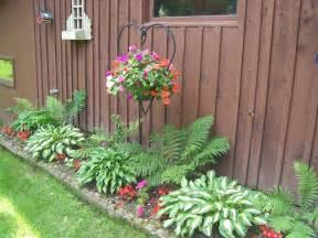 shade flower bed hostas ferns impatiens kesky flickr