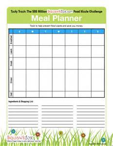 blank menu planner template weekly meal planner template free new calendar template site