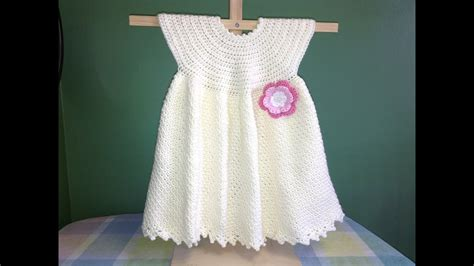 crochet  baby dress easy youtube