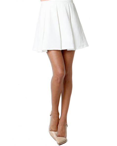 white a line pleated mini skirt sk0150061 2