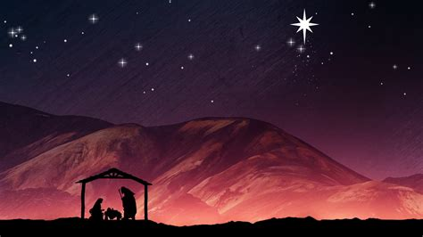 in the manger nativity background joseph and baby jesus in a manger motion