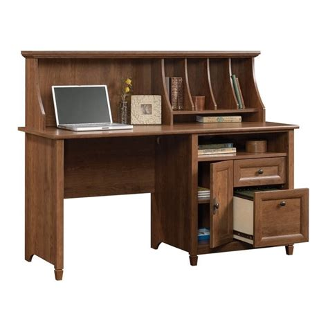 Computer Desk With Hutch Cherry Computer Desk With Hutch In Auburn Cherry 419401
