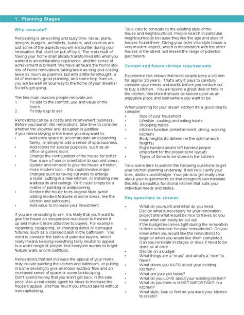 kitchen remodel checklist kitchen renovation checklist free
