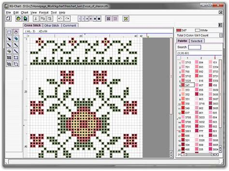 pattern maker for mac os x kg chart le for cross stitch free download and software