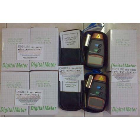 Digital Tachometer Laser Pengukur Putaran Rpm Roda Mesin Motor Kipas 1 tachometer laser dt2234c