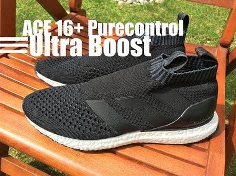 Sepatu Adidas Ultra Boost Ace16 Black Hitam adidas ace 17 purecontrol boost indoor turf unboxing on hd yhtye