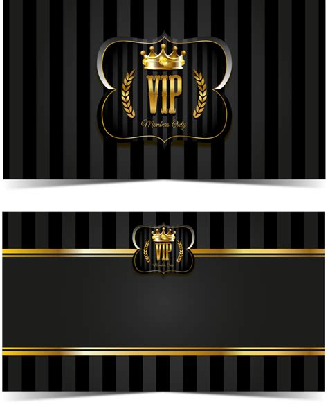 vip card design template luxury vip card template vectors set 05 vector card free