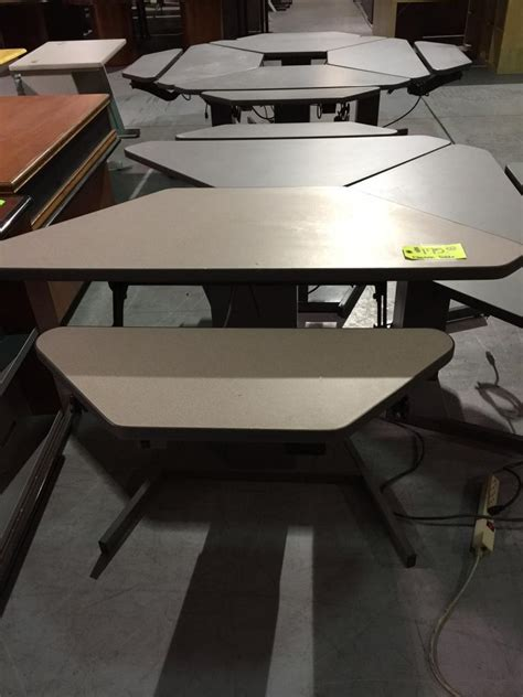 used sit stand desk used office desks knoll electric sit stand desk at