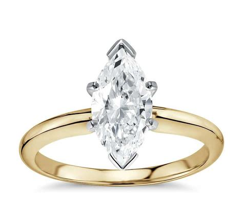 engagement solitaire ring  ct marquise cut  karat