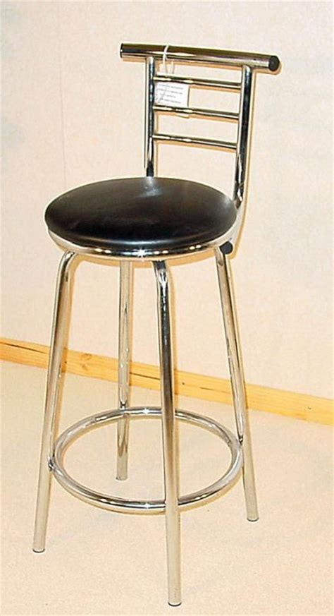 Narrow Stools by Heartlands Chrome Narrow Back Bar Stool Blue Interiors