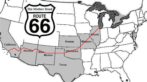 route 66 texas map historic highway route 66 europe beyond