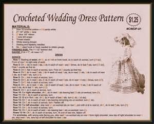 Crocheted barbie wedding dress pattern