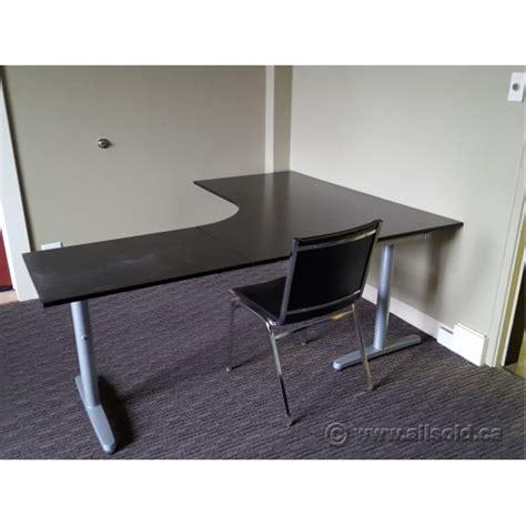 ikea modular office desk ikea galant espresso modular open style l suite desk w
