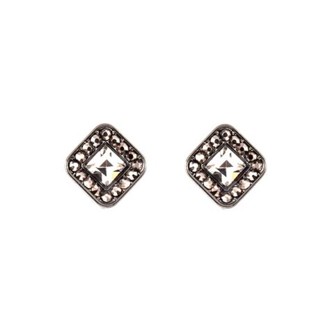 elizabeth antiqued stud earrings