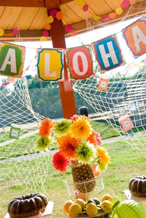 luau outside decorations party planning pinterest