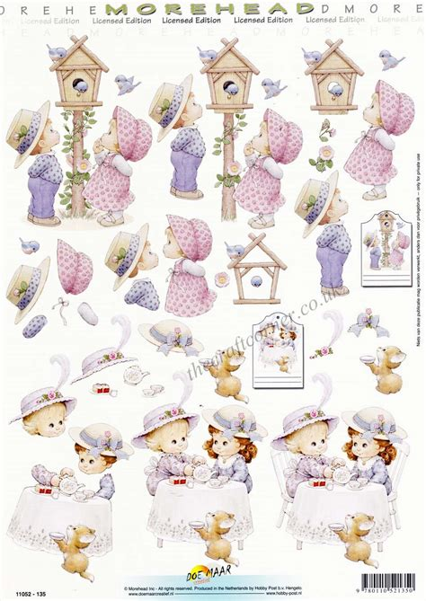 decoupage for children morehead children a tea 3d decoupage sheet