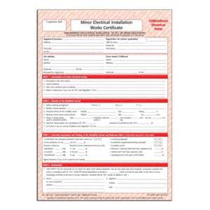 electrical minor works certificate template corgidirect minor electrical works certificate cp22