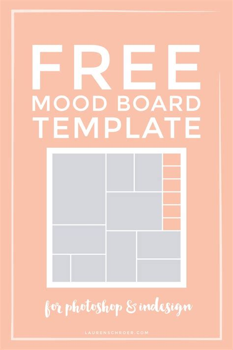 Free Mood Board Template Photoshop And Graphic Design Pinterest Design Mood Boards And Mood Board Template Photoshop