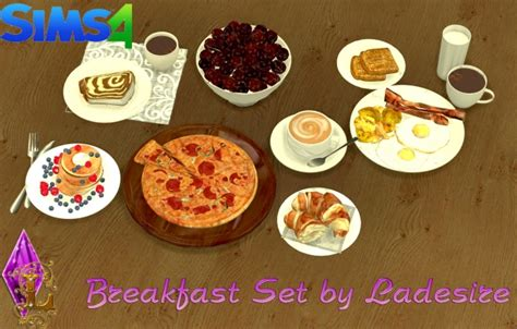 sims 4 food cc breakfast set at ladesire 187 sims 4 updates