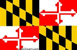 of maryland colors maryland state flag and map coloring pages