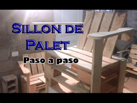 como hacer sillones de palets como hacer un sillon de palet paso a paso