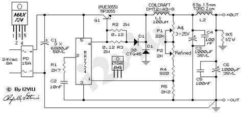schema alimentatore switching alimentatore switching 3 to 25 v 8a