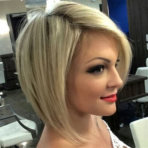 straight bobs for heavy forty 40 banging blonde bob and blonde lob hairstyles